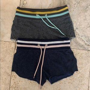 lot of 2 AEROPOSTALE drawstring lounge shorts